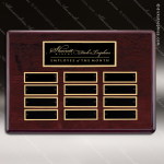 The Tagmillo Rosewood Perpetual Plaque  12 Black Plates Employee Trophy Awards