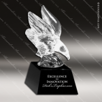 Crystal Black Accented Eagle Trophy Award Employee Trophy Awards