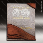 Engraved Stone Plaque Wave Moonstone Award Employee Trophy Awards