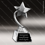 Chrome Star On Crystal Base Employee Trophy Awards