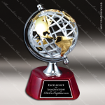World Globe on Rosewood Base Employee Trophy Awards