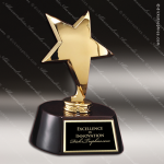 Star On Rose Base Employee Trophy Awards