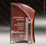 Acrylic Wood Accented Artisan Rustic Red Alder Wood Trophy Award Employee Trophy Awards