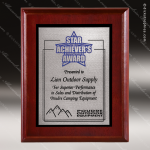 Engraved Cherry Plaque Silver Zinc Plate Black Border Wall Placard Award Employee Trophy Awards