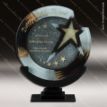 Venetian Galileo Artistic Gray Silver Art Glass Trophy Award Employee Trophy Awards