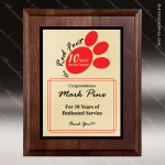 Engraved Walnut Plaque Gold SpectraColor Wall Placard Award Employee Trophy Awards