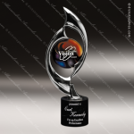 Cast Discovery Chrome Art Disc Marble Base Trophy Award Employee Trophy Awards