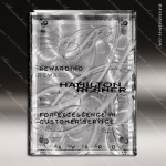 Engraved Glass Plaque Silver Fascination Art Wall Placard Award Employee Trophy Awards