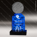 Acrylic Blue Accented Mini Royal Trophy Award Employee Trophy Awards