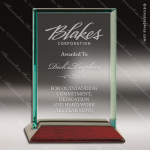 Jackson Square Glass Rosewood Accented Rectangle Trophy Award Employee Trophy Awards