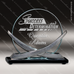 Orion Prime Silver Accented Jade Glass Modern Circle Trophy Award Employee Trophy Awards