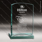 Curved Jade Glass Accented Full Disclosure Rectangle Trophy Award Employee Trophy Awards