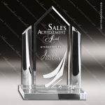 Acrylic Clear Mountain Peak Circle Posts Trophy Award Employee Trophy Awards