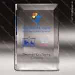 Acrylic Clear Rectangle Standing Trophy Award Employee Trophy Awards
