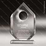 Acrylic Clear Peak Sun Eclipse Trophy Award Employee Trophy Awards