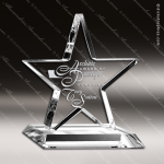 Acrylic Clear Star Trophy Award Employee Trophy Awards