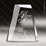 Acrylic Clear Beveled Triangle Trophy Award Employee Trophy Awards
