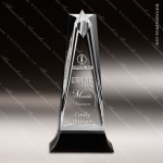 Acrylic Black Accented Star Tower Trophy Award Employee Trophy Awards