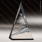 Acrylic Stone Accented Triangle Summit Trophy Award Employee Trophy Awards