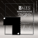 Acrylic Black Accented Floating Rectangle Trophy Award Employee Trophy Awards