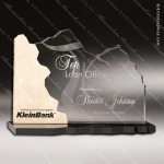 Acrylic Stone Accented Perspective Trophy Award Employee Trophy Awards