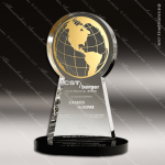 Acrylic Gold Accented Global Globe Trophy Award Employee Trophy Awards