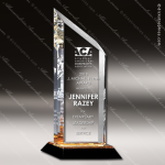 Acrylic Gold Accented Slant Trophy Award Employee Trophy Awards