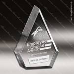 Acrylic Clear Triangle Peak Spear Trophy Award Employee Trophy Awards