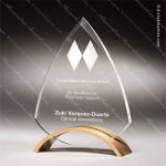 Acrylic Gold Accented Triangular Modern Trophy Award Employee Trophy Awards