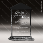 Acrylic Stone Accented Perspective Rectangle Trophy Award Employee Trophy Awards