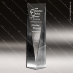 Crystal  Clear Rectangle Excelsior Trophy Award Employee Trophy Awards