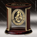 Engraved Rosewood Desk Clock Gold Accented Skeleton Clock Award Employee Trophy Awards