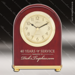 Engraved Rosewood Desk Clock Gold Accented Large Domed Clock Award Employee Trophy Awards