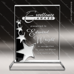 Crystal  Stripe Of Stars Rectangle Trophy Award Employee Trophy Awards