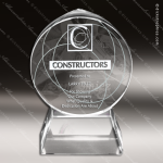 Crystal  Circle 3-D Trophy Award Employee Trophy Awards