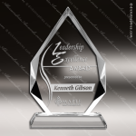 Crystal  Diamond Faceted Edge Trophy Award Employee Trophy Awards