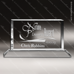 Crystal  Horizontal Rectangle Trophy Award Employee Trophy Awards