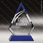 Crystal Blue Accented Arrow Head Trophy Award Employee Trophy Awards