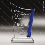Crystal Blue Accented Edge Optima Trophy Award Employee Trophy Awards