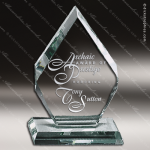 Mabus Arrowhead Glass Jade Accented Trophy Award Employee Trophy Awards