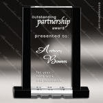 Crystal Black Accented Rectangle Trophy Award Employee Trophy Awards