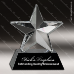 Crystal Black Accented Star Beveled Trophy Award Employee Trophy Awards