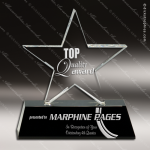 Crystal Black Accented Star Trophy Award Employee Trophy Awards
