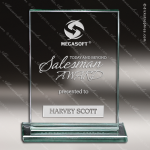 Mabus Tablet Glass Jade Accented Rectangle Trophy Award Employee Trophy Awards