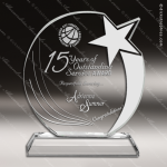 Crystal  Shooting Star Circle Trophy Award Employee Trophy Awards