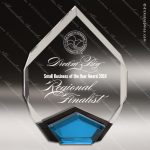 Acrylic Blue Accented Sarquis Diamond Award Employee Trophy Awards
