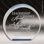 Acrylic Blue Accented Round Circle Award Employee Trophy Awards