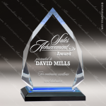 Acrylic Blue Accented Diamond Impress Award Employee Trophy Awards