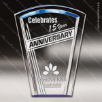 Acrylic Blue Accented Fan Halo Award Employee Trophy Awards
