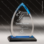 Acrylic Blue Accented Arrowhead Impress Award Employee Trophy Awards